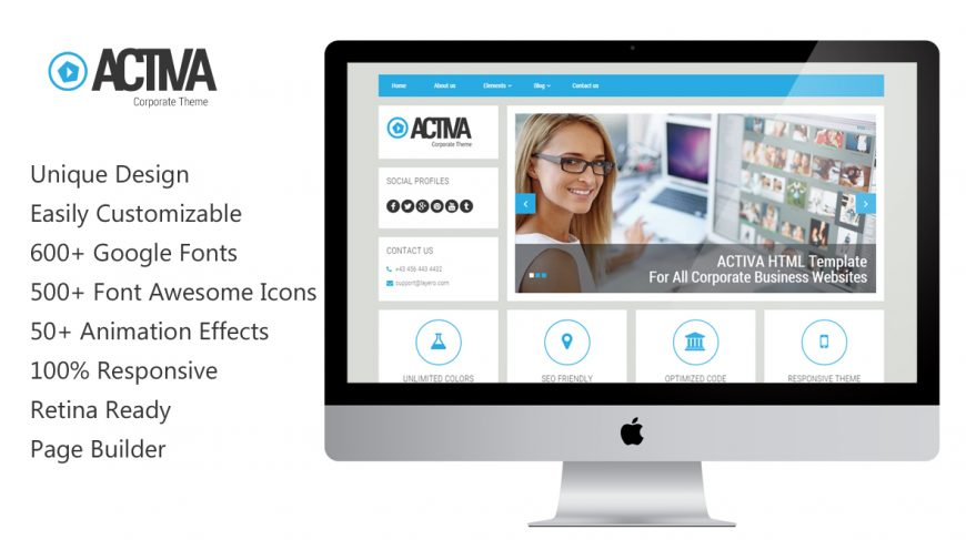 Activa MutliPurpose Business WordPress Theme