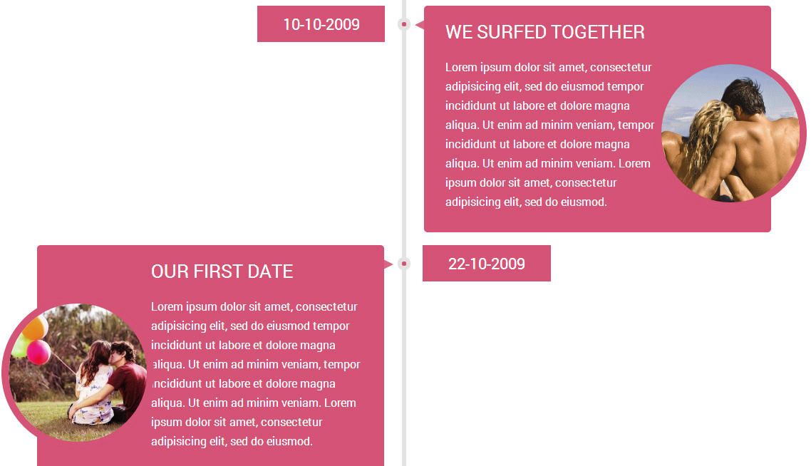 wordpress wedding theme timeline<