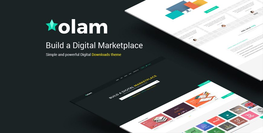olam edd marketplace wp theme